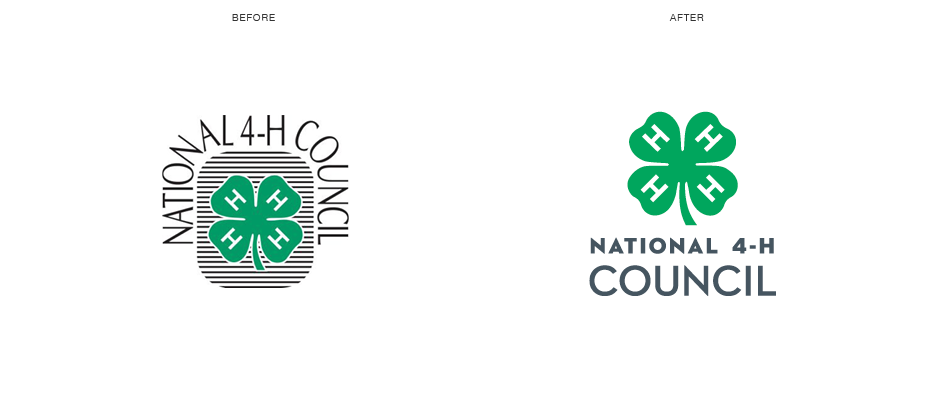 National 4-H Council Branding New Logo Before and After